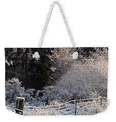 Weekender Tote Bag featuring the photograph Along The Way by Rory Sagner