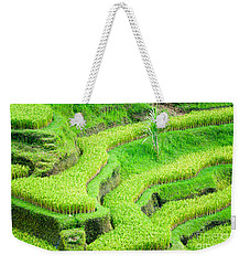 Weekender Tote Bag featuring the photograph Amazing Rice Terrace Field by Luciano Mortula