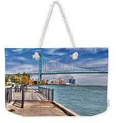 Ambassador Bridge Detroit Mi Weekender Tote Bag by Nicholas  Grunas