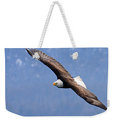 Weekender Tote Bag featuring the photograph American Bald Eagle by Doug Lloyd