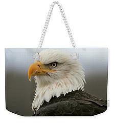 American Bald Eagle Portrait Weekender Tote Bag by Myrna Bradshaw