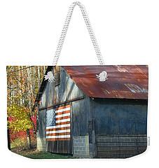 Weekender Tote Bag featuring the photograph Americana Barn by Clara Sue Beym