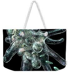 Weekender Tote Bag featuring the digital art Amoeba Black by Russell Kightley