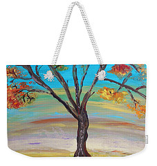 An Autumn Locust Tree Weekender Tote Bag