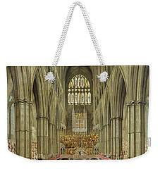 An Interior View Of Westminster Abbey On The Commemoration Of Handel's Centenary Weekender Tote Bag by Edward Edwards
