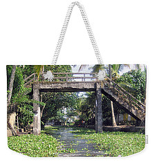 An Old Stone Bridge Over A Canal In Alleppey Weekender Tote Bag