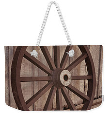 An Old Wagon Wheel Weekender Tote Bag