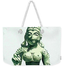 Weekender Tote Bag featuring the painting An Oriental Statue At The Toledo Museum Of Art-4 by Yoshiko Mishina