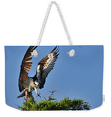 An Osprey Flying In With Breakfast Weekender Tote Bag