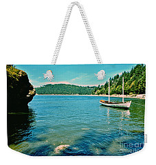 Anchored In Bay Weekender Tote Bag by Michelle Joseph-Long