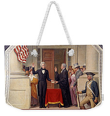 Weekender Tote Bag featuring the photograph Andrew Jackson At The First Capitol Inauguration - C 1829 by International  Images