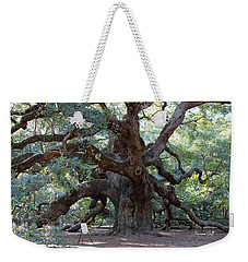 Angel Oak - Dont Climb Or Carve On The Tree Weekender Tote Bag