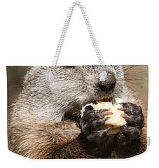 Animal - Woodchuck - Eating Weekender Tote Bag by Paul Ward
