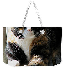 Weekender Tote Bag featuring the photograph Annie Banannie by Rory Sagner