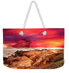 Anthony Boy Waiting Out The Storm Weekender Tote Bag