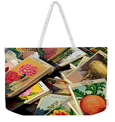 Antique French Seed Packs Weekender Tote Bag