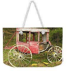 Weekender Tote Bag featuring the photograph Old Horse Drawn Carriage by Sherman Perry