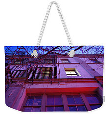 Weekender Tote Bag featuring the photograph Apartment Building by Marilyn Wilson