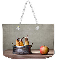 Apple And Pears 01 Weekender Tote Bag by Nailia Schwarz