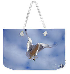 Weekender Tote Bag featuring the photograph Applying Brakes In Flight by Clayton Bruster