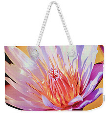 Weekender Tote Bag featuring the photograph Aquatic Bloom by Julie Palencia