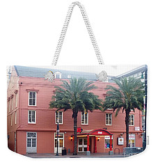Weekender Tote Bag featuring the photograph Arby's At Dawn by Alys Caviness-Gober