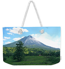 Weekender Tote Bag featuring the photograph Arenal by Eric Tressler