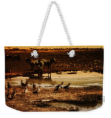 Weekender Tote Bag featuring the photograph Around The Pond by Lydia Holly