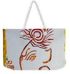 Weekender Tote Bag featuring the painting Artistic Lord Ganesha by Sonali Gangane