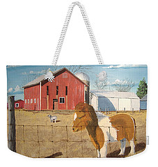 Weekender Tote Bag featuring the painting At Home by Norm Starks