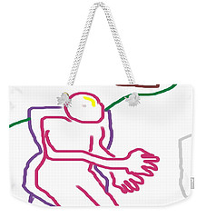 Weekender Tote Bag featuring the digital art At The Computer by George Pedro