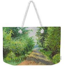 Weekender Tote Bag featuring the painting August Lane by Joe Winkler