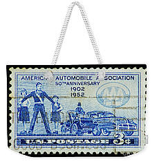 Weekender Tote Bag featuring the photograph Automobile Association Of America by Andy Prendy