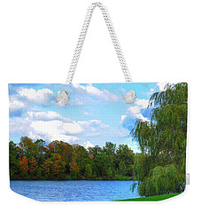 Weekender Tote Bag featuring the photograph Autumn At Hoyt Lake by Michael Frank Jr