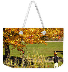 Weekender Tote Bag featuring the photograph Autumn At The Schoolground by Mick Anderson