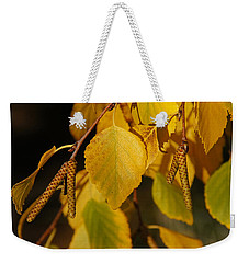 Weekender Tote Bag featuring the photograph Autumn Birch In Southern Oregon by Mick Anderson