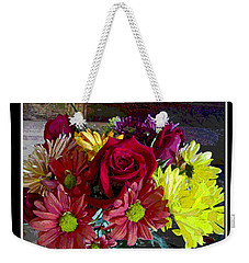 Weekender Tote Bag featuring the digital art Autumn Boquet by Debbie Portwood