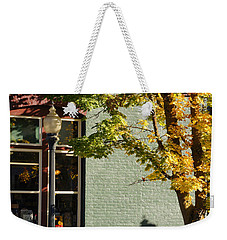 Weekender Tote Bag featuring the photograph Autumn Detail In Old Town Grants Pass by Mick Anderson