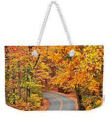 Autumn Drive Signal Mountain Weekender Tote Bag