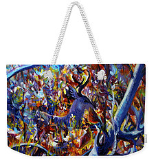 Weekender Tote Bag featuring the painting Autumn Fairy Tale by Anna  Duyunova