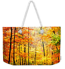 Weekender Tote Bag featuring the photograph Autumn Forest by Randall Branham