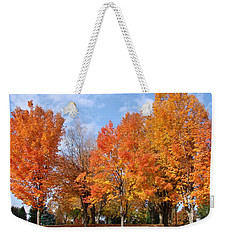 Weekender Tote Bag featuring the photograph Autumn Leaves by Athena Mckinzie