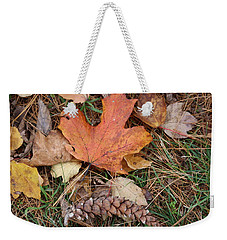 Weekender Tote Bag featuring the photograph Autumn Leaves by Donna  Smith