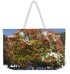 Autumn Snow Weekender Tote Bag