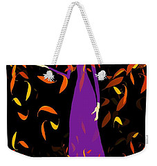 Weekender Tote Bag featuring the digital art Autumn Spirit by Barbara Moignard