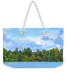 Weekender Tote Bag featuring the photograph Autumn's Beauty At Hoyt Lake by Michael Frank Jr