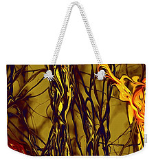 Shapes Of Fire Weekender Tote Bag by Leo Symon