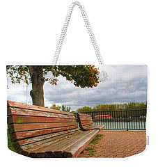 Weekender Tote Bag featuring the photograph Awaiting by Michael Frank Jr