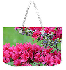 Weekender Tote Bag featuring the photograph Azalea by Andrea Anderegg