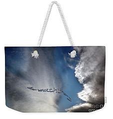 Weekender Tote Bag featuring the photograph B R E A T H E by Vicki Ferrari